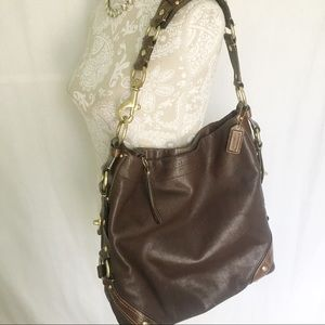 Coach // Brown Leather Carly Hobo Purse